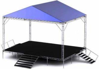 Сцена 8х6м. с крышей