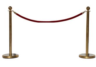 Столбик ограничительный с канатом золото аренда на мероприятие в МСК и СПб цена, взять в прокат канатный столбик золотой