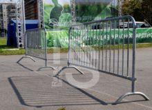 Аренда уличных ограждений фан-барьер на мероприятие в МСК и СПб цена, взять в прокат ограждение для фан-зоны