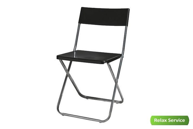 аренда складного черного пластикового стула