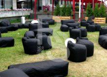 MOROSO Лавка бескаркасная черная