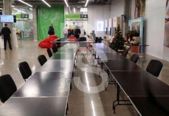 аренда прямоугольного фанерного стола с окантовкой 1,2 см. на мероприятие в СПб и МСК цена