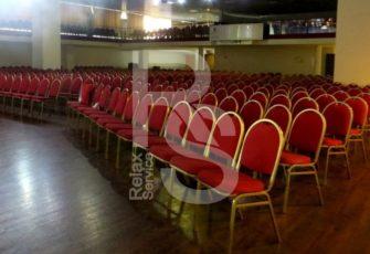Стул штабелируемый красный аренда на мероприятие СПб и МСК цена