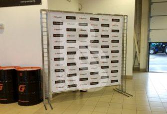 Аренда пресс волл конструкции системы Джокер Тритикс размером 2х2 и 2,5х2 м в СПб цена, взять в прокат Press Wall Joker Tritix в МСК стоимость 2 или 2,5 на 2 метра