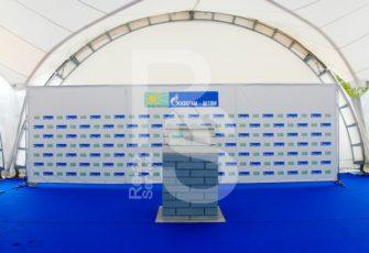 Аренда пресс волл конструкции системы Джокер Тритикс с размером под заказ в СПб цена, взять в прокат Press Wall Joker Tritix в МСК стоимость с индивидуальными произвольными размерами