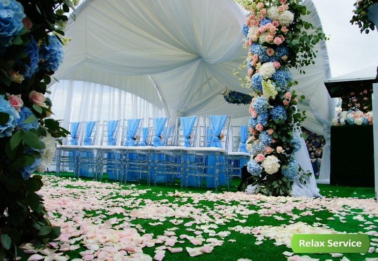 Комплексное обеспечение свадьбы на крыше Петербурга