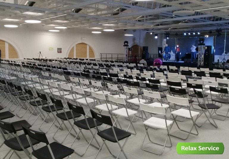 Оборудование и мебель на корпоратив в Манеже и турнир в Юлмарте
