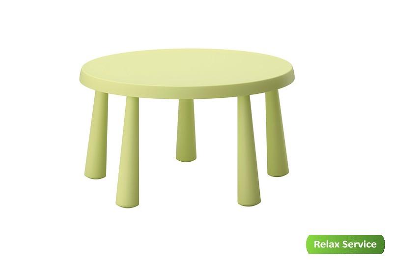 аренда стола детского круглого зеленого
