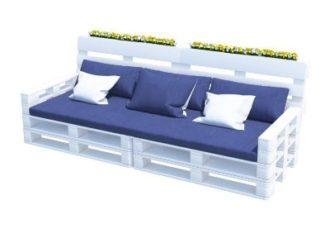 Диван из паллет с подушками аренда на мероприятие в СПб и МСК цена, прокат паллетного мягкого дивана стоимость