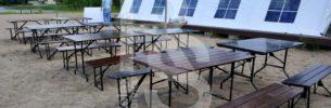 Аренда мебели для мероприятия в заг. клубе Дача