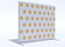 Press Wall Tritix с закрытыми боками 2,5х2 м.