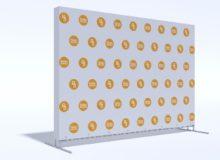Press Wall Tritix с закрытыми боками 3х2 м.