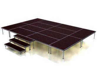 Аренда подиума Europodium 6 на 4 метра на мероприятие в МСК цена, взять в прокат европодиум 6х4 м. в СПб стоимость
