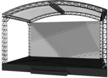 Сцена 6х4 м с крышей
