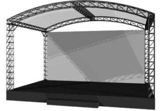 Аренда сцены с граундом 6 на 4 метра на мероприятие в МСК цена, взять в прокат сцену с крышей 6х4 м. в СПб стоимость
