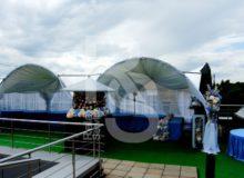 Шатер арочный, 5х5м, аренда шатра 25 кв. метров в МСК цена, взять в прокат тент арка 5 на 5 метров в СПб