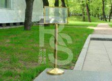 аренда столбика с указателем А4 на мероприятие и СПб цена