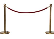 Столбик ограничительный с канатом — Золото
