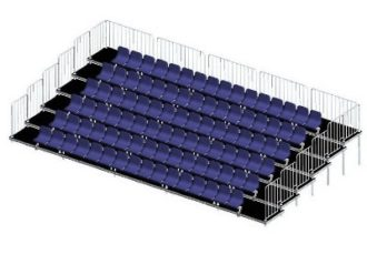 Аренда зрительской трибуны на 32, 48 и 64 посадочных места в 2,3 и 4 ряда на мероприятие в МСК цена, взять в прокат трибуну для зрителей в СПб стоимость