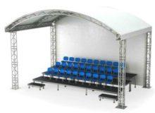 Трибуна VIP, 3 ряда, с крышей
