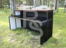 Барная стойка деревянная длиной 2 и 3 метра аренда на мероприятие в МСК и СПб цена
