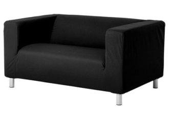 Аренда двухместного черного дивана на мероприятие в СПБ и МСК цена