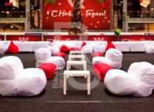 Бескаркасный диван Urban в белом чехле аренда на мероприятие в СПб и МСК цена