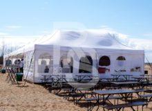 Шатер Expotent Standart, 8х4м., аренда шатра на 20-30 человек для мероприятий, праздников, банкетов