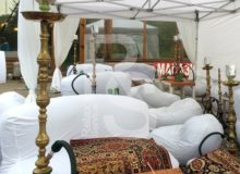 Кресло мешок небольшой белый Bean Bag Mini аренда на мероприятие в СПб и МСК цена, кресло груша Бин Бег маленький в белом чехле прокат