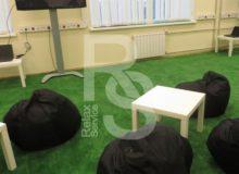 Кресло мешок небольшой черный Bean Bag Mini аренда на мероприятие в СПб и МСК цена, кресло груша Бин Бег маленький в черном чехле прокат