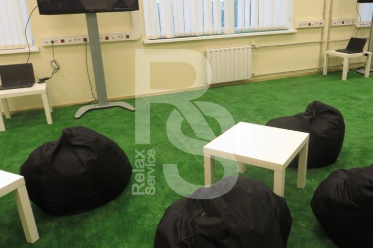 Кресло мешок небольшой черный Bean Bag Mini аренда на мероприятие в СПб цена, кресло груша Бин Бег маленький в черном чехле прокат
