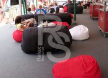 Кресло мешок небольшой красный Bean Bag Mini аренда на мероприятие в СПб и МСК цена, кресло груша Бин Бег маленький в красный чехле прокат