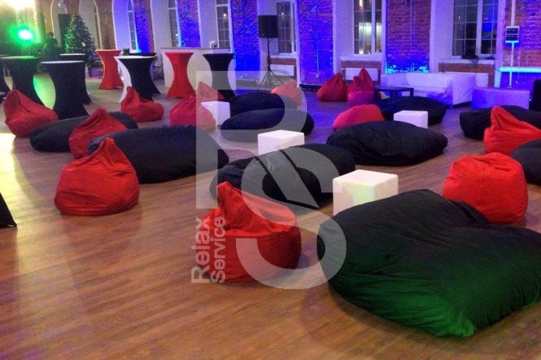 Кресло мешок небольшой красный Bean Bag Mini аренда на мероприятие в СПб цена, кресло груша Бин Бег маленький в красный чехле прокат