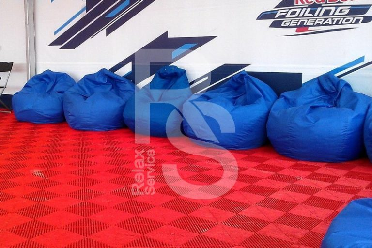 Кресло мешок небольшой синий Bean Bag Mini аренда на мероприятие в СПб цена, кресло груша Бин Бег маленький в синем чехле прокат