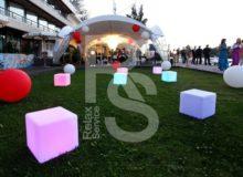 Световой куб CUBO 40 аренда на мероприятие в СПб и МСК, прокат открытого куба с подсветкой