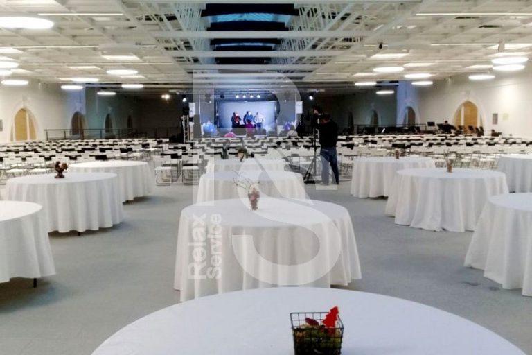 Аренда круглого банкетного стола 150 см. на мероприятие в СПб цена
