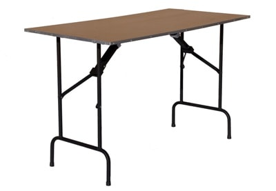 Аренда прямоугольного стола из фанеры с окантовкой 120 см. на мероприятие в СПб и МСК цена