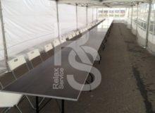 аренда прямоугольного фанерного стола с окантовкой 1,8 м. на мероприятие в СПб и МСК цена