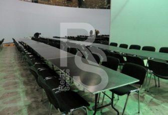 аренда прямоугольного стола с окантовкой 180 см. на мероприятие в СПб и МСК цена