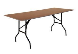 Аренда прямоугольного стола из фанеры с окантовкой 180 см. на мероприятие в СПб и МСК цена