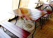 Стол рейка деревянный 1,2 см. аренда в СПБ и МСК на мероприятие цена