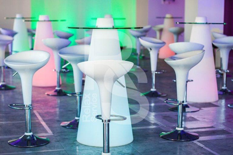 Стол Peak 120 световой аренда на мероприятие в СПб цена