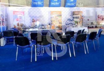 Стул офисный синий аренда на мероприятие СПб и МСК цена