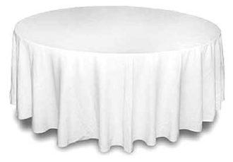 Аренда круглой скатерти диаметром 3 метра на стол на выездной банкет в МСК цена, взять в прокат скатерть круглую для банкетного стола 3 м. для кейтеринга в СПб стоимость