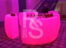 аренда световой барной стойки Fatbar в СПб цена, стоимость проката стойки для бара с подсветкой в МСК