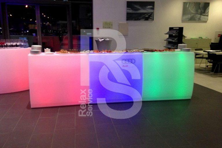 аренда световой барной стойки Linebar в СПб цена, стоимость проката стойки для бара с подсветкой