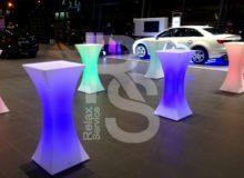Аренда коктейльного светового стола SLIM 110 в СПб и МСК на мероприятие цена