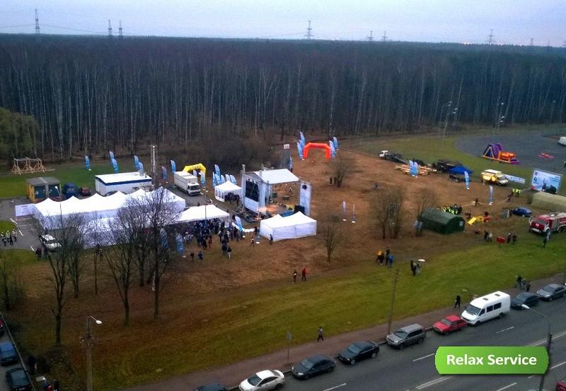 Сцена, шатры и оборудование для Гонки ГТО
