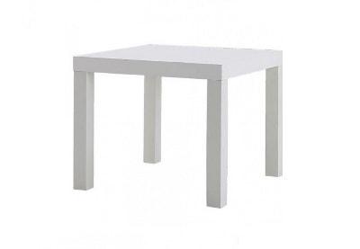 Стол журнальный квадратный белый