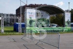 Аренда сцен шатров и ограждений для городских мероприятий в МСК и СПб цена